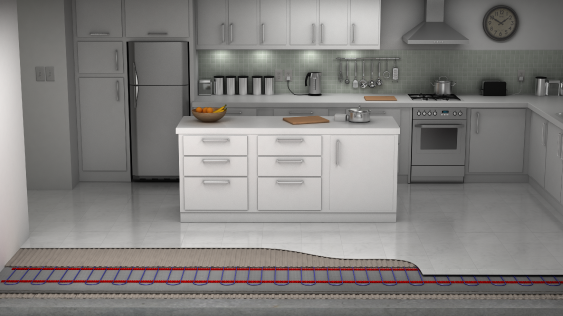 underfloor heating for kitchen